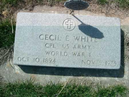 WHITE, CECIL E. - Dawes County, Nebraska   CECIL E. WHITE - Nebraska Gravestone Photos