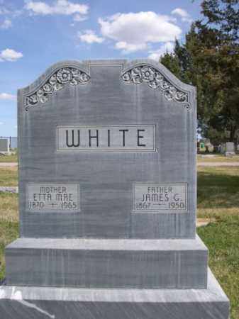 WHITE, JAMES G. - Dawes County, Nebraska   JAMES G. WHITE - Nebraska Gravestone Photos