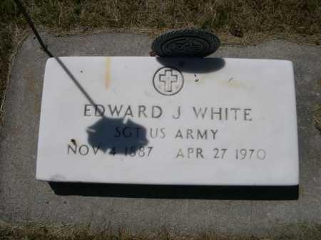WHITE, EDWARD J. - Dawes County, Nebraska | EDWARD J. WHITE - Nebraska Gravestone Photos
