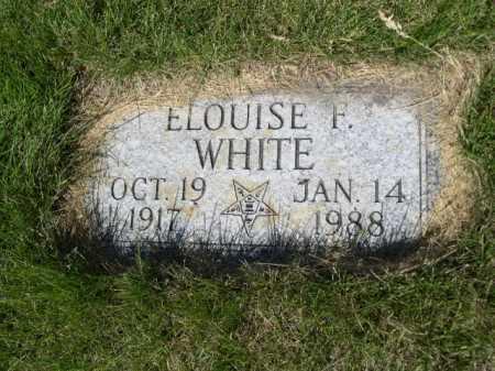 WHITE, ELOUISE F. - Dawes County, Nebraska | ELOUISE F. WHITE - Nebraska Gravestone Photos