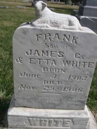 WHITE, FRANK - Dawes County, Nebraska | FRANK WHITE - Nebraska Gravestone Photos