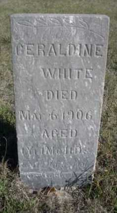 WHITE, GERALDINE - Dawes County, Nebraska | GERALDINE WHITE - Nebraska Gravestone Photos