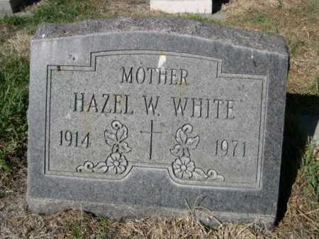 WHITE, HAZEL W. - Dawes County, Nebraska | HAZEL W. WHITE - Nebraska Gravestone Photos