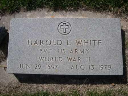 WHITE, HAROLD L. - Dawes County, Nebraska | HAROLD L. WHITE - Nebraska Gravestone Photos
