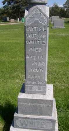 WHITE, KATEL - Dawes County, Nebraska | KATEL WHITE - Nebraska Gravestone Photos