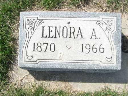 WHITE, LENORA A. - Dawes County, Nebraska | LENORA A. WHITE - Nebraska Gravestone Photos