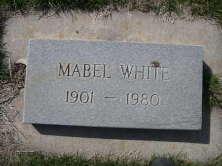 WHITE, MABEL - Dawes County, Nebraska   MABEL WHITE - Nebraska Gravestone Photos