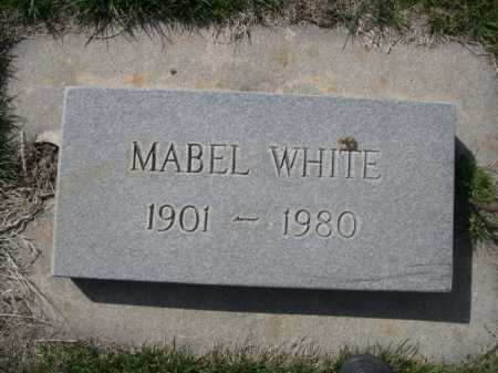 WHITE, MABEL - Dawes County, Nebraska | MABEL WHITE - Nebraska Gravestone Photos