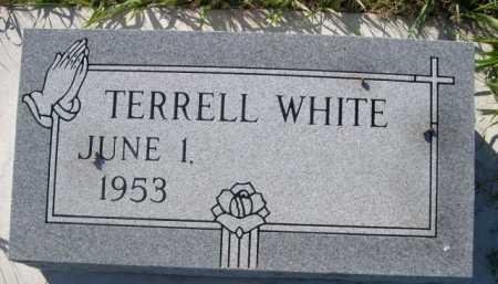 WHITE, TERRELL - Dawes County, Nebraska   TERRELL WHITE - Nebraska Gravestone Photos
