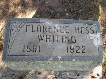 WHITING, FLORENCE HESS - Dawes County, Nebraska   FLORENCE HESS WHITING - Nebraska Gravestone Photos