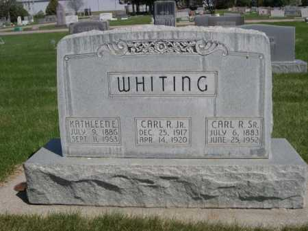 WHITING, CARL R. JR. - Dawes County, Nebraska | CARL R. JR. WHITING - Nebraska Gravestone Photos