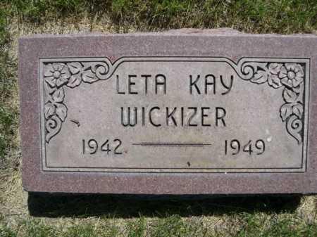 WICKIZER, LETA KAY - Dawes County, Nebraska | LETA KAY WICKIZER - Nebraska Gravestone Photos