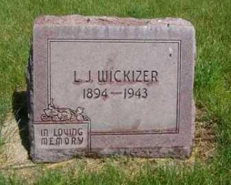 WICKIZER, L. J. - Dawes County, Nebraska | L. J. WICKIZER - Nebraska Gravestone Photos