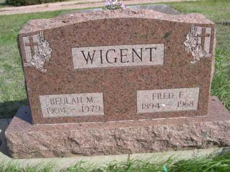 WIGENT, BEULAH M. - Dawes County, Nebraska | BEULAH M. WIGENT - Nebraska Gravestone Photos