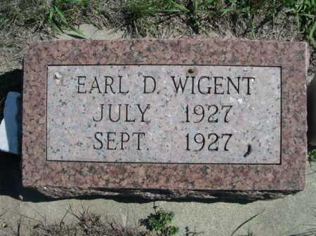 WIGENT, EARL D. - Dawes County, Nebraska | EARL D. WIGENT - Nebraska Gravestone Photos