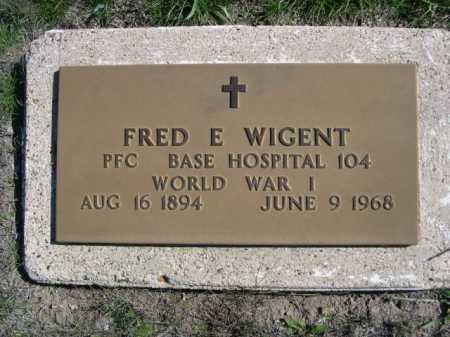 WIGENT, FRED E. - Dawes County, Nebraska | FRED E. WIGENT - Nebraska Gravestone Photos
