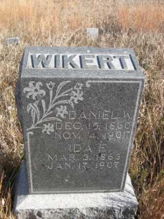 WIKERT, DANIEL W. - Dawes County, Nebraska | DANIEL W. WIKERT - Nebraska Gravestone Photos