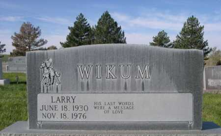 WIKUM, LARRY - Dawes County, Nebraska | LARRY WIKUM - Nebraska Gravestone Photos