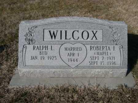 MAPEL WILCOX, ROBERTA I. - Dawes County, Nebraska   ROBERTA I. MAPEL WILCOX - Nebraska Gravestone Photos