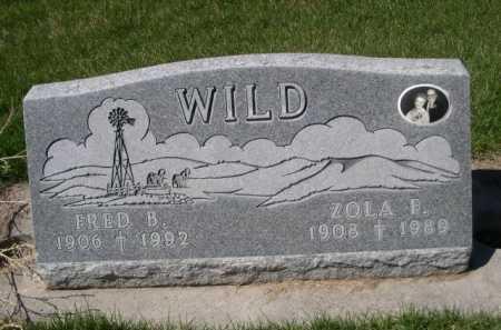 WILD, ZOLA F. - Dawes County, Nebraska | ZOLA F. WILD - Nebraska Gravestone Photos