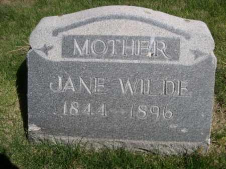 WILDE, JANE - Dawes County, Nebraska | JANE WILDE - Nebraska Gravestone Photos