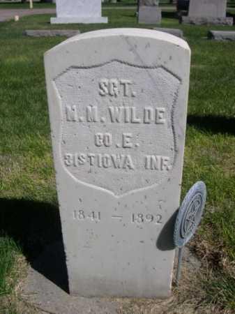 WILDE, M. M. - Dawes County, Nebraska | M. M. WILDE - Nebraska Gravestone Photos