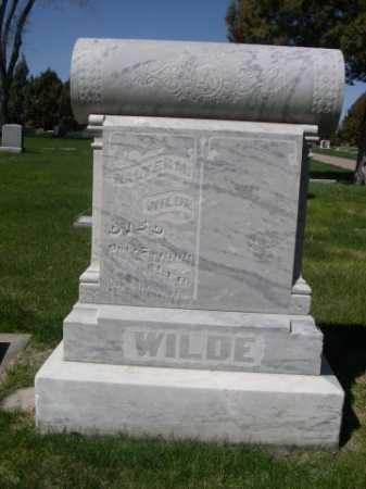 WILDE, WALTER M. - Dawes County, Nebraska | WALTER M. WILDE - Nebraska Gravestone Photos