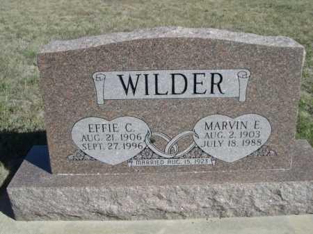 WILDER, MARVIN E. - Dawes County, Nebraska | MARVIN E. WILDER - Nebraska Gravestone Photos