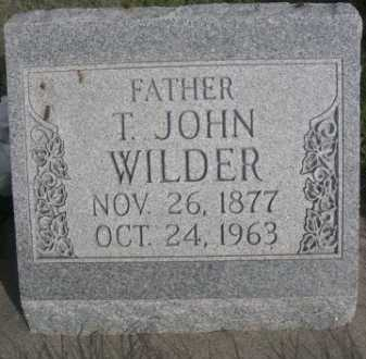 WILDER, T. JOHN - Dawes County, Nebraska | T. JOHN WILDER - Nebraska Gravestone Photos