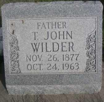 WILDER, T. JOHN - Dawes County, Nebraska   T. JOHN WILDER - Nebraska Gravestone Photos