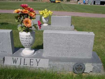 WILEY, IRENE M. - Dawes County, Nebraska | IRENE M. WILEY - Nebraska Gravestone Photos