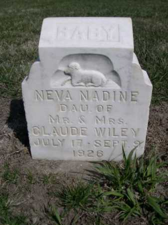 WILEY, NEVA NADINE - Dawes County, Nebraska   NEVA NADINE WILEY - Nebraska Gravestone Photos