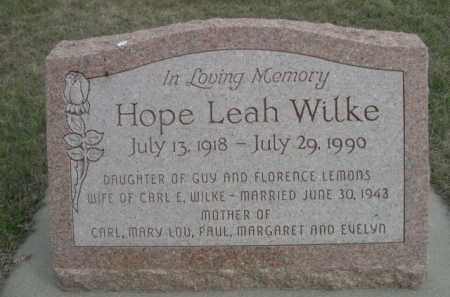LEMONS WILKE, HOPE LEAH - Dawes County, Nebraska | HOPE LEAH LEMONS WILKE - Nebraska Gravestone Photos