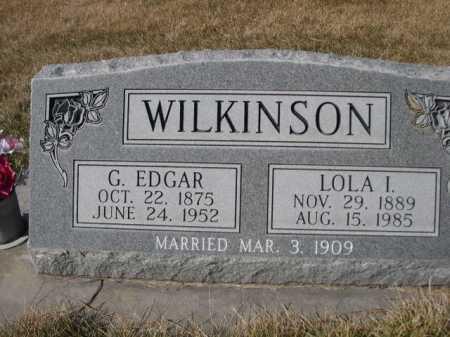 WILKINSON, G. EDGAR - Dawes County, Nebraska   G. EDGAR WILKINSON - Nebraska Gravestone Photos
