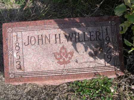 WILLER, JOHN H. - Dawes County, Nebraska | JOHN H. WILLER - Nebraska Gravestone Photos
