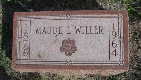 WILLER, MAUDE L. - Dawes County, Nebraska   MAUDE L. WILLER - Nebraska Gravestone Photos