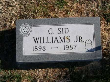 WILLIAMS, C. SID JR. - Dawes County, Nebraska   C. SID JR. WILLIAMS - Nebraska Gravestone Photos