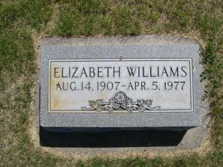 WILLIAMS, ELIZABETH - Dawes County, Nebraska | ELIZABETH WILLIAMS - Nebraska Gravestone Photos