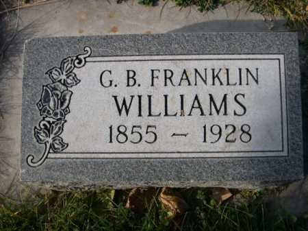 WILLIAMS, G. B. FRANKLIN - Dawes County, Nebraska | G. B. FRANKLIN WILLIAMS - Nebraska Gravestone Photos