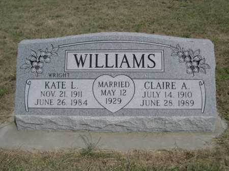 WILLIAMS, CLAIRE A. - Dawes County, Nebraska | CLAIRE A. WILLIAMS - Nebraska Gravestone Photos