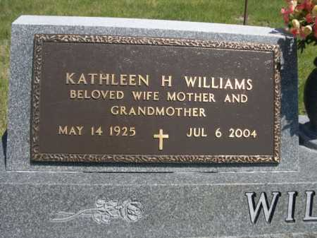 WILLIAMS, KATHLEEN H. - Dawes County, Nebraska | KATHLEEN H. WILLIAMS - Nebraska Gravestone Photos