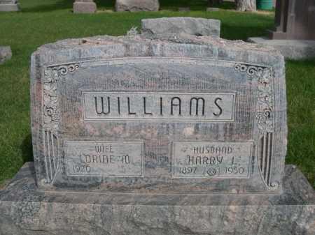 WILLIAMS, HARRY J. - Dawes County, Nebraska   HARRY J. WILLIAMS - Nebraska Gravestone Photos