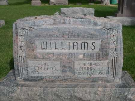 WILLIAMS, HARRY J. - Dawes County, Nebraska | HARRY J. WILLIAMS - Nebraska Gravestone Photos