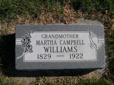 WILLIAMS, MARTHA CAMPBELL - Dawes County, Nebraska | MARTHA CAMPBELL WILLIAMS - Nebraska Gravestone Photos