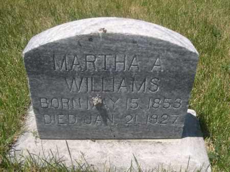 WILLIAMS, MARTHA A. - Dawes County, Nebraska | MARTHA A. WILLIAMS - Nebraska Gravestone Photos