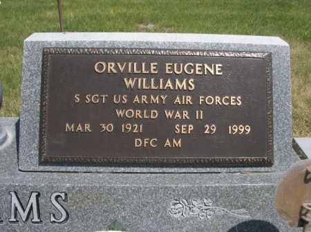 WILLIAMS, ORVILLE EUGENE - Dawes County, Nebraska | ORVILLE EUGENE WILLIAMS - Nebraska Gravestone Photos