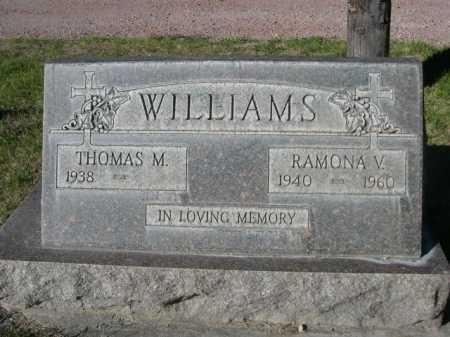 WILLIAMS, RAMONA V. - Dawes County, Nebraska | RAMONA V. WILLIAMS - Nebraska Gravestone Photos