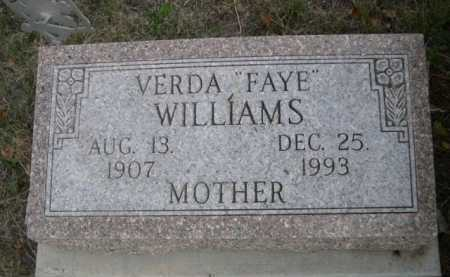 "WILLIAMS, VERDA ""FAYE"" - Dawes County, Nebraska 