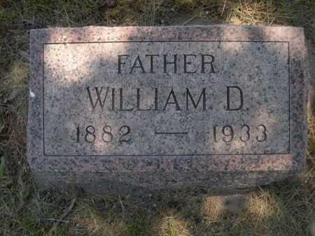 WILLIAMS, WILLIAM D. - Dawes County, Nebraska   WILLIAM D. WILLIAMS - Nebraska Gravestone Photos