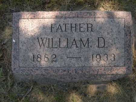 WILLIAMS, WILLIAM D. - Dawes County, Nebraska | WILLIAM D. WILLIAMS - Nebraska Gravestone Photos